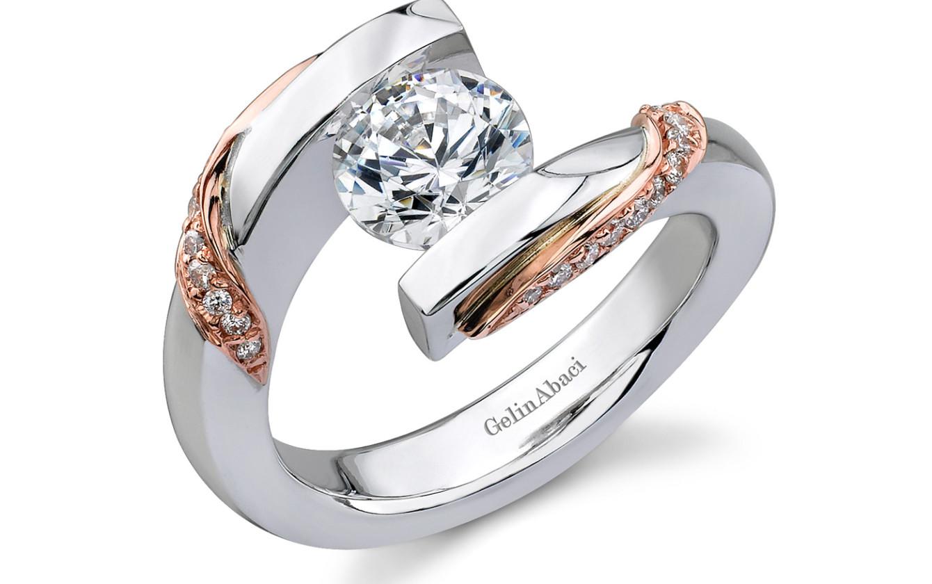Gelin Abaci Tension Set Engagement Ring | DeVries Jewelers